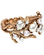 Oscar de la Renta Coral Cuff Bracelet - Lyst