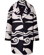 Diane von Furstenberg Wool-Cotton Cloud Wave Cocoon Coat - Lyst