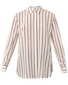 Elizabeth And James Sade Striped Silk Shirt - Lyst