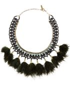 Isabel Marant Gold-Tone, Crystal And Feather Necklace - Lyst