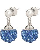 Folli Follie Silver-Plated Crystal Drop Earrings - Lyst