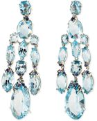 Alexis Bittar Fine Blue Topaz/Quartz/Sapphire & Diamond Chandelier Earrings - Lyst