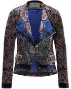 Etro Printed Velvet Jacket - Lyst