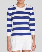 Kate Spade Striped Sweater - Lyst