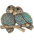Carolee Lovebirds Pin - Lyst