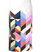 Preen By Thornton Bregazzi Tilda Pencil Skirt - Lyst