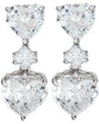 Fantasia Cz Double-Heart Drop Earrings - Lyst