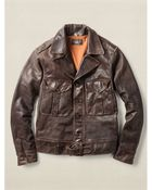 RRL Leather Quinn Moto Jacket - Lyst