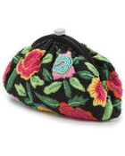 Santi Embroidered Flower Clutch - Multi - Lyst