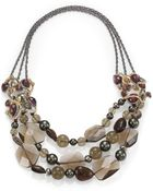 Alexis Bittar Elements Muse D'Ore Semi-Precious Multi-Stone Entangled Spur Necklace - Lyst