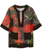 Dolce & Gabbana Printed Silk-Chiffon Kaftan - Lyst