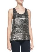 Parker Ginger Beaded Sequin Stripe Tank - Lyst
