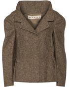 Marni Woven Wool-Blend Jacket - Lyst