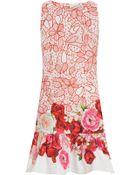 Isolda Mini Frilled Printed Dress - Lyst