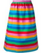 Valentino Striped A-Line Skirt - Lyst