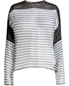 Anthony Vaccarello Striped Silk Blouse - Lyst