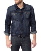7 For All Mankind Vintage 7 Collection: Destroyed Denim Jacket - Lyst