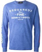 DSquared² Printed Sweatshirt - Lyst