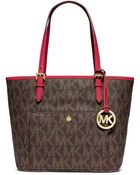 MICHAEL Michael Kors Jet Set Snap Pocket Tote Bag - Lyst