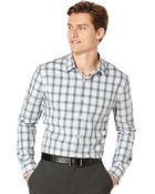 Perry Ellis Big and Tall Background Plaid Shirt - Lyst
