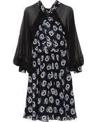 Prabal Gurung Floral-Print Silk-Chiffon Dress - Lyst