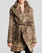 Diane von Furstenberg Bergen Leopard Alpaca Wrap Coat - Lyst