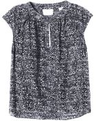 Rebecca Taylor Ink Dot Cutout Top - Lyst
