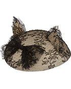 Maison Michel Lace Cat Ears Fascinator - Lyst
