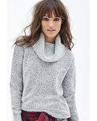 Forever 21 Cowl Neck Sweater - Lyst