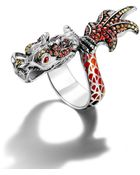 John Hardy Dragon Wrap Ring With Autumn Color Way Enamel - Lyst
