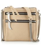 Romy Gold Snake-Embossed Leather Crossbody Bag - Lyst
