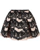 RED Valentino Velvet Printed Bubble Skirt - Lyst