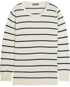 N.Peal Cashmere Striped Cashmere Sweater - Lyst