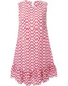 RED Valentino Printed Ruffled Hem Dress - Lyst