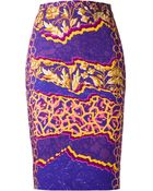 Peter Pilotto Printed Pencil Skirt - Lyst