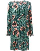 Matthew Williamson Mixed-Print Silk Shift Dress - Lyst