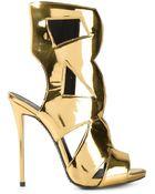 Giuseppe Zanotti Metallic Sandals - Lyst