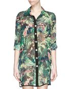 We Are Handsome Jungle Fever' Tropics Print Silk Shirt - Lyst