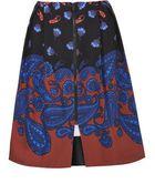 Topshop Paisley Print Zip Front Midi Skirt - Lyst