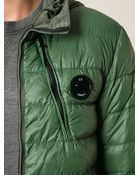 C P Company Contrasting Hoodie Padded Jacket - Lyst