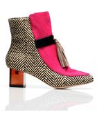 Joanne Stoker Ray: Herringbone & Fuchsia Ankle Boots By - Lyst