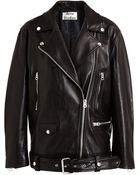 Acne Studios Leather Biker Jacket - Lyst
