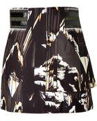 Kenzo Stretch Cotton Mountains Mini-Skirt - Lyst