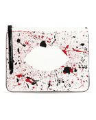 Lulu Guinness Paint The Town Red Hug and Hold Clutch - Lyst