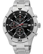 Seiko Men'S Chronograph Stainless Steel Bracelet Watch 42Mm Sks401 - Lyst