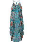 Mara Hoffman Print Draped Dress - Lyst