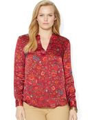 Lauren by Ralph Lauren Plus Patchwork Cotton Workshirt - Lyst