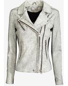 IRO Ilaria Crackled Leather Jacket - Lyst