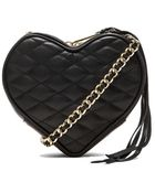 Rebecca Minkoff Heart Quilted-Leather Cross-Body Bag - Lyst