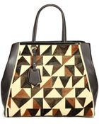 Fendi 2Jours Large Mixed-Media Tote - Lyst